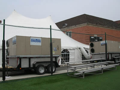 Mobile Air Conditioning for a Tent & Air Conditioning and Heating Service for Weddings and Private ...